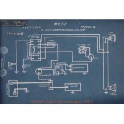 Metz G 6volt Schema Electrique 1917 1918 Westinghouse