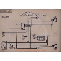 Metz Late 12volt Schema Electrique 1914 North East