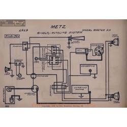 Metz Master Six 6volt Schema Electriqeu 1919 Autolite