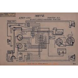 Metz Master Six 6volt Schema Electrique 1920 1921 Westinghouse