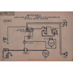 Mitchell C42 D40 E40 E42 6volt Schema Electrique 1917 1918 1919 Remy
