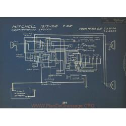 Mitchell C42 Schema Electrique 1917 1918 Westinghouse