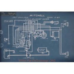 Mitchell D 40 6volt Schema Electrique 1917 1918 1919 Splitdorf