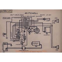 Mitchell D40 6volt Schema Electrique 1917 1918 1919 Splitdorf