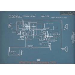 Mitchell D40 Schema Electrique 1917 1918