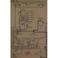 Mitchell E 40 42 Victory Schema Electrique 1919 Remy