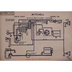 Mitchell E 6volt Schema Electrique 1919 1920 Splitdorf V2