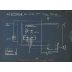 Mocomobile 30 38 48 Schema Electrique 1911 1912 1913 Rushmore