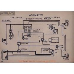 Monroe 4 5 6 M 6volt Schema Electrique 1917 1918 Autolite V2