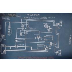 Monroe 4 5 6 M 6volt Schema Electrique 1917 1918 Autolite