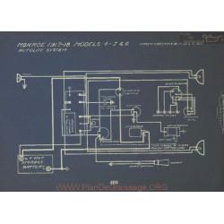 Monroe 4 5 6 Schema Electrique 1917 1918 Autolite