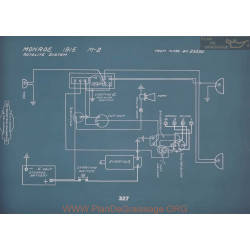Monroe M2 Schema Electrique 1915