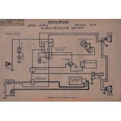Monroe S9 6volt Schema Electrique 1920 1921 Autolite