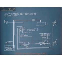 Nash 6 68 687 Schema Electrique 1919 1920