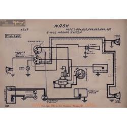 Nash 681 682 684 685 686 687 6volt Schema Electrique 1919 Wagner V2