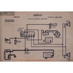 Nash 681 682 6volt Schema Electrique 1918 Delco V2