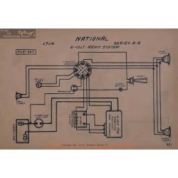 National Aa 6volt Schema Electrique 1914 Remy
