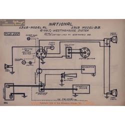 National Al Bb 6volt Schema Electrique 1918 1919 Westinghouse V2