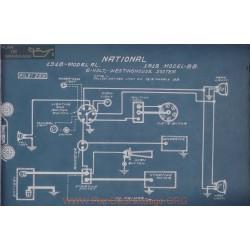 National Al Bb 6volt Schema Electrique 1918 1919 Westinghouse