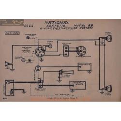 National Bb 6volt Sextette Schema Electrique 1921 Westinghouse