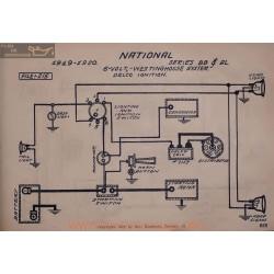 National Bb Al 6volt Schema Electrique 1919 1920 Westinghouse Delco