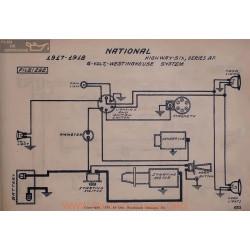 National Highway Six Af 6volt Schema Electrique 1917 1918 Westinghouse V2