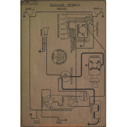 Oakland 32 B 34 Schema Electrique Delco
