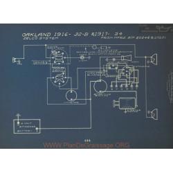 Oakland 32b 34 Schema Electrique 1916 1917 Delco