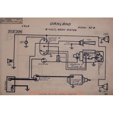Oakland 32b 6volt Schema Electrique 1916 Remy V2
