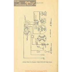 Oakland 32b Schema Electrique 1917 Delco