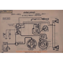 Oakland 34c 6volt Schema Electrique 1920 1921 Remy