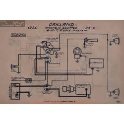 Oakland 34c Magneto 6volt Schema Electrique 1921 Remy