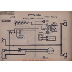 Oakland 35 42 6volt Schema Electrique 1913 Deaco