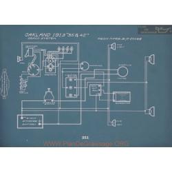 Oakland 35 42 Schema Electrique 1913 V2