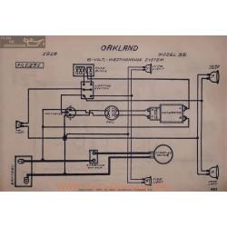 Oakland 35 6volt Schema Electrique 1915 Westinghouse