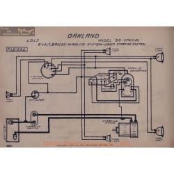 Oakland 35 Special 6volt Schema Electrique 1913 Briggs Maglite