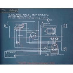 Oakland 35 Special Schema Electrique 1913