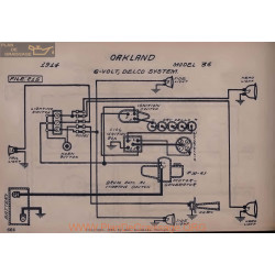 Oakland 36 6volt Schema Electrique 1914 Delco