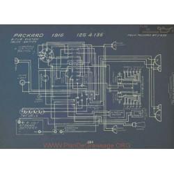 Packard 125 135 Schema Electrique 1916 Bijur