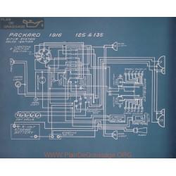 Packard 125 135 Schema Electrique 1916
