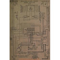 Packard 12cyl 325 335 Schema Electrique 1918 1919 Bijur
