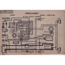 Packard 2 38 4 48 6volt Schema Electrique 1914 Bijur V2