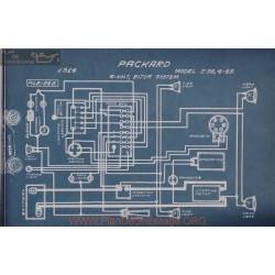 Packard 2 38 4 48 6volt Schema Electrique 1914 Bijur