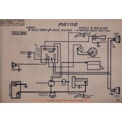 Paige 6 42 6 55 6volt Schema Electrique 1920 Gray & Davis