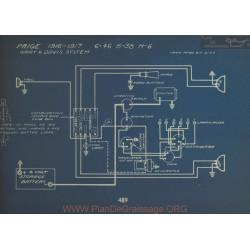 Paige 6 46 6 38 H6 Schema Electrique 1916 1917 Gray & Davis