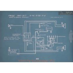 Paige 6 46 6 38 H6 Schema Electrique 1916 1917 V2