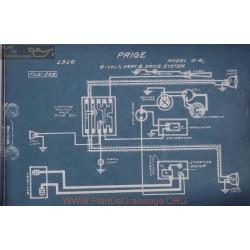 Paige G6 6volt Schema Electrique 1916 Gray & Davis