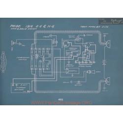 Paige G6 H6 Schema Electrique 1915