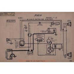 Pan American A 6volt Schema Electrique 1921 Autolite