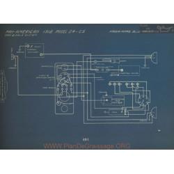 Pan American G4 G5 Schema Electrique 1918 Gray & Davis